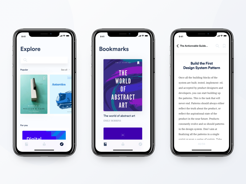 Book Library - iPhone X UI bookmark novel ui lecture reading library book iphone x