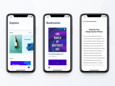 Book Library - iPhone X UI