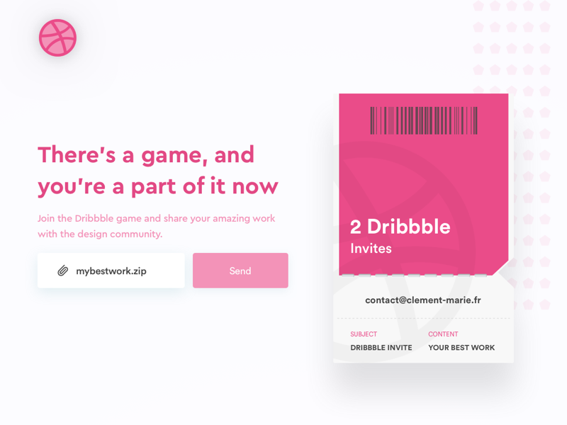 2 Dribbbles invites to giveaway - Join the game 💌 invite giveaway invitation ticket gradient dribbble invite dribbble