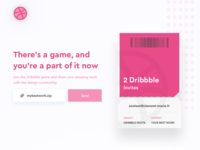 2 Dribbbles invites to giveaway - Join the game 💌