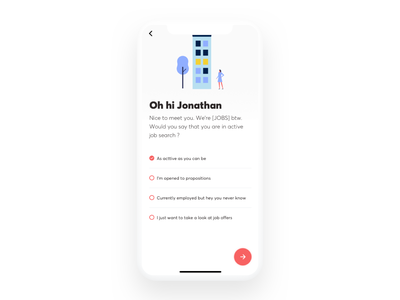 Jobs - job hunting app onboarding professional resume iphone x interaction design animation principle job app ui onboarding