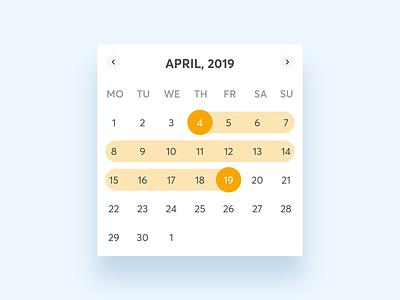 📅Calendar component - HomeExchange design system product design component library design system component availability agenda dates date range date picker calendar