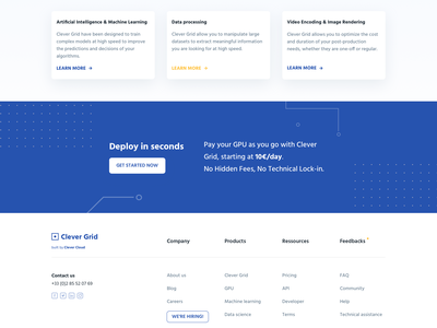 Clever Grid - GPU Cloud service ☁️ product page hosting documentation pattern terminal ui design interaction design animations cloud machine learning gpu landing page