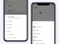 Popover - Modal exploration folder file calendar popover mobile app modal
