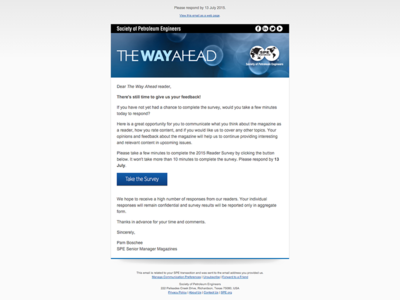 SPE Transactional Email