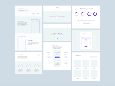 Web Wireframes (Free Template) typography layout flat ux ui web design wireframe