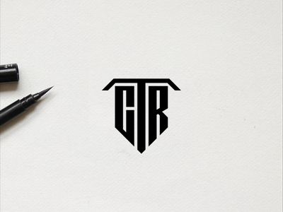 CTR monogram logo minimal logo awesome design illustration identity branding logo design typography lettering symbol vector icon monogram ctr logo logos logo