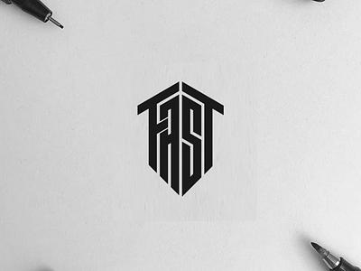 FAST monogram logo minimal logo clothing designer illustration identity branding logo design typography lettering symbol vector icon monogram fast logo logos logo