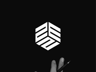ZEN monogram logo minimal logo clothing apparel illustration identity branding logo design typography lettering symbol vector icon monogram zen logo logos logo