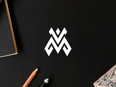VM monogram logo minimal logo clothing apparel illustration identity branding logo design typography lettering symbol vector icon monogram vm logo logos logo
