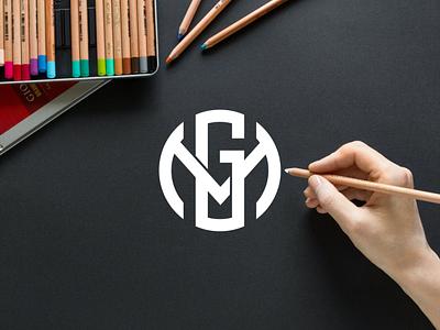 GM or MG monogram logo minimal logo clothing apparel identity illustration branding logo design typography lettering symbol logotype icon monogram gm logo logos logo
