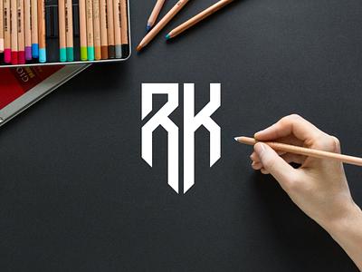 RK monogram logo minimal logo clothing apparel illustration identity branding logo design typography lettering logotype icon monogram logos symbol logo rk monogram logo