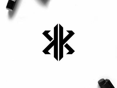 KK monogram logo minimal logo clothing apparel illustration identity branding logo design typography lettering symbol logotype icon monogram kk logo logos logo