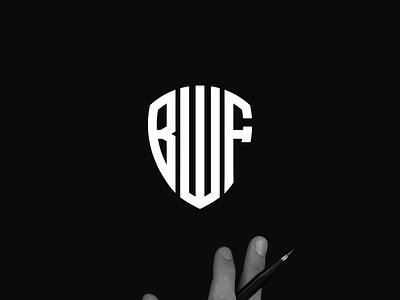 BWF monogram logo minimal logo clothing apparel identity illustration branding logo design typography lettering symbol logotype icon monogram bwf logo logos logo