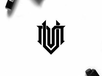 MV monogram logo minimal logo clothing vector illustration identity branding logo design typography lettering symbol logotype icon monogram mv logo logos logo