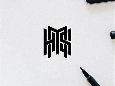 HMS monogram logo minimal logo clothing apparel illustration identity branding logo design typography lettering symbol hms logo monogram logotype icon logos logo