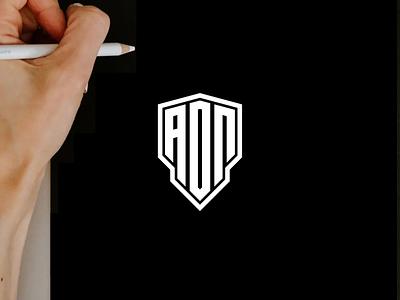 AON monogram logo minimal logo clothing apparel illustration identity branding logo design typography lettering symbol logotype icon monogram aon logo logos logo