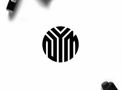 NYM monogram logo minimal logo clothing apparel illustration identity branding logo design typography lettering symbol logotype icon monogram nym logo logos logo