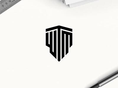 WTM monogram logo minimal logo clothing apparel illustration identity branding logo design typography lettering symbol logotype monogram wtm logo logos logo