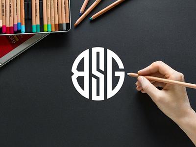 BSG monogram logo minimal logotype clothing apparel illustration brandingidentity logo design typography lettering symbol logotype icon monogram bsg logo logos logo