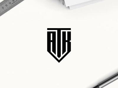 ATK monogram logo minimal logo clothing apparel illustration identity branding logo design typography lettering symbol logotype icon monogram atk logo logologos