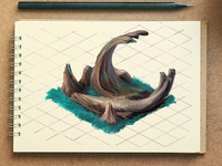 Isometric Rock formation