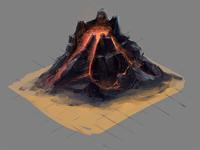 Isometric Volcano