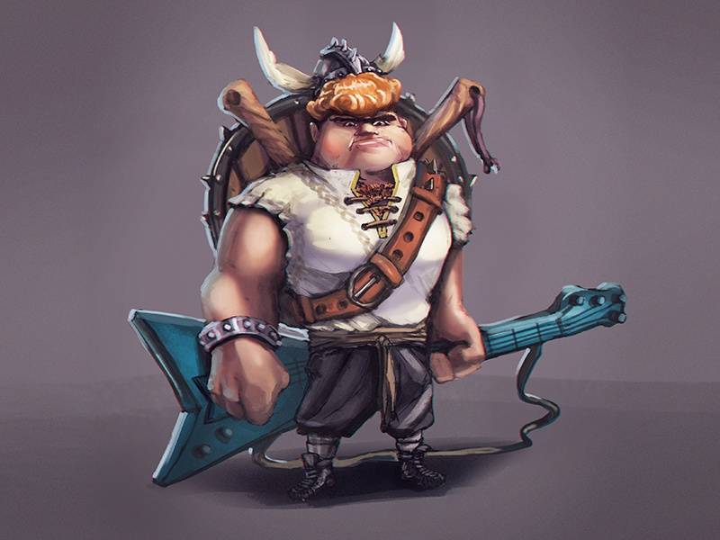 Viking Musician Concept