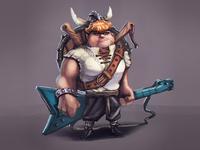 Viking Musician Concept