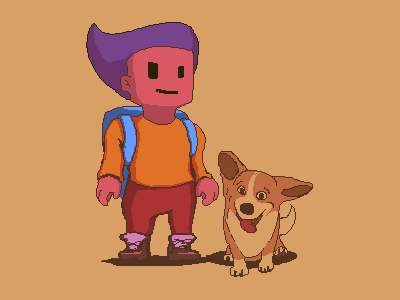Character game asset game art cute character 2d art dog game