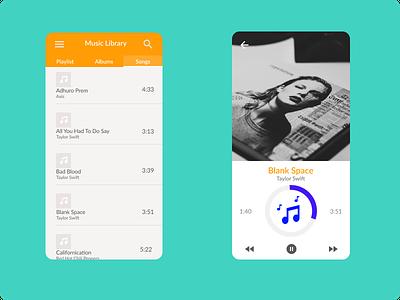 Music Player music player music design ui figma