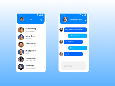 Direct Messaging message chats design ui figma