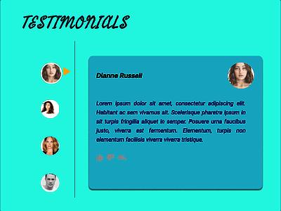 Testimonials Design testimonials 039 dailyui design ui figma