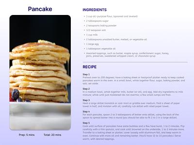 Day 40: Recipe recipe dailyuichallenge 040 dailyui design ui figma