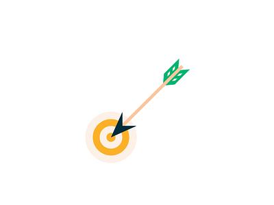 Target web home icon stroke animation linea arrow target
