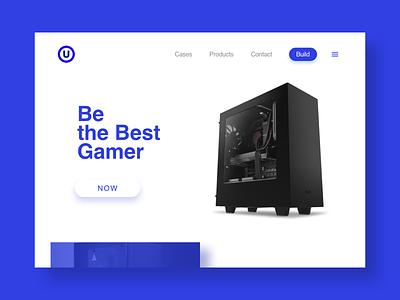 U Gamer Computer design web design ui uidesign website games computer gamer