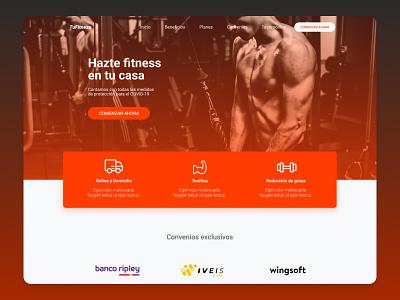 TuFitness Redesign ux redesign website concept figma uidesign ui sport fitness website