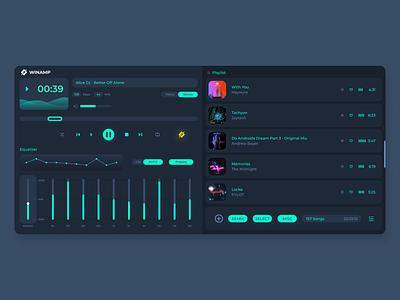 Winamp Player Redesing figma ui interface ux uiux interface uidesign ui songs music player winamp