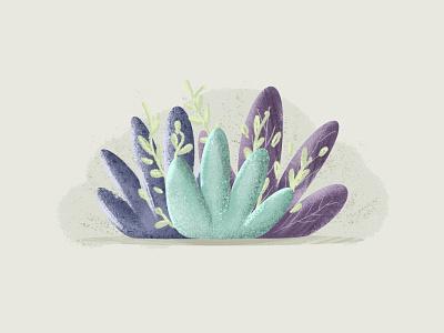 Aqua Plants plant illustration nature green texture grain affinitydesigner vector plants