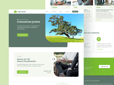 Roble Chileno Website chile chilean legal law law site wordpress elementor uiux uidesign uxdesign website tree roble