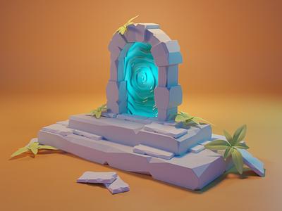 Portal portal 3dillustration blender 3dblender