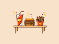 Hamburger Food Set
