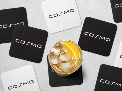 Cosmo Coasters geometric wide extended elegant modern custom wordmark logotype typography type lettering letters letter logos logo world galaxy universe cosmic cosmo
