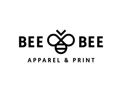 Bee Bee Apparel & Print Logo apparel wing fly animal lines circular shapes geometric mark pictorial white black bold outline logos logo insects insect bees bee