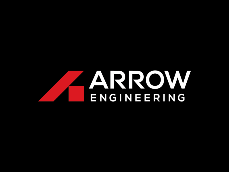 Arrow Engineering Logo geometrical triangle logo square red bold lettermark letter a mark geometric builder building commercial residential industrial structural block engineering engineer arrow