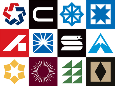 2020 Logofolio Vol. 1 corporate bold geometric type reptile blue light snake typography letter sun mountain symbol trademark branding identity logofolio logotype logos logo