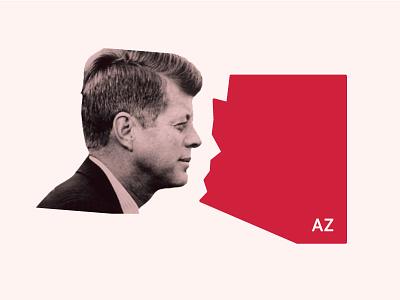 An uncanny resemblance... shillouette az joke portrait outline state arizona kennedy jkf