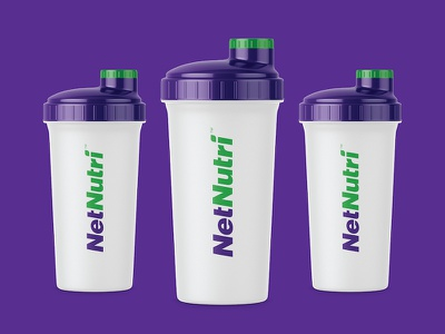 NetNutri Shaker Bottles wordmark store retail green leaf vitamins health supplements nutrition online nutri net