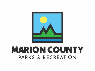 Marion County Parks & Recreation geometric square outdoors water grass logos logo strong bold classic mark pictorial landscape sun m mountain recreation parks county marion
