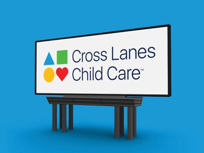 Cross Lanes Child Care Logo simple logos logo building blocks shapes geometric toys toy play education school daycare kids kid children care child lanes cross